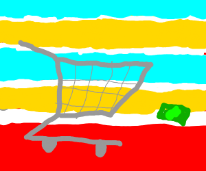 Shopping Cart chasing a Dollar