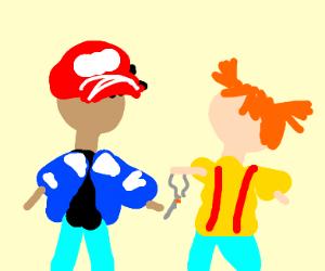 Ash & Misty Smoking