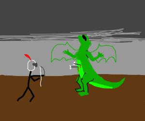 Knight kills Dragon