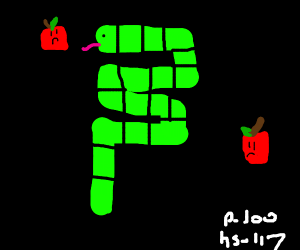 Snake that old game but the apples are sad
