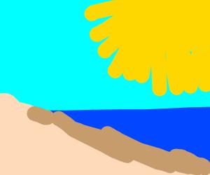 A Nice beach on summer