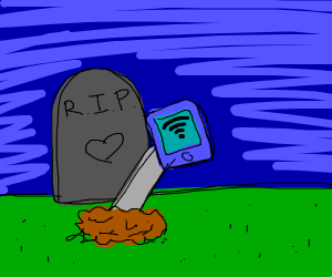 dead hand reaches out from grave for wifi