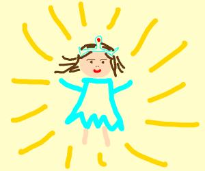 glowing princess