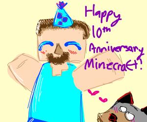 Let's celebrate Minecraft's 10th anniversary!
