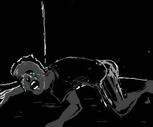 guy crying on floor