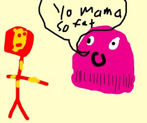 """Thanos says to Stark """"yo mama so fat"""""""