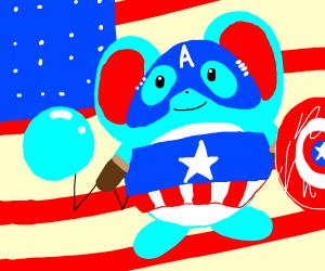 Marill as captain America