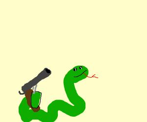 Snake with a gun.