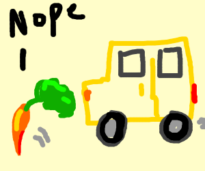 Bus chasing after a carrot it cannot obtain