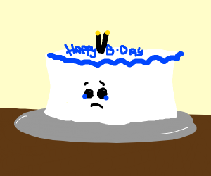 Cake is upset about turning 2