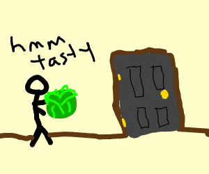 Eating Lettuce with a Door
