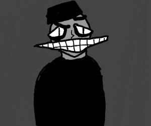 evil big teethed man