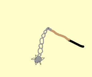 spike balls and a whip