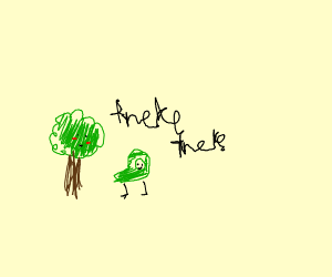 Tired Luigi giving tree emotional support