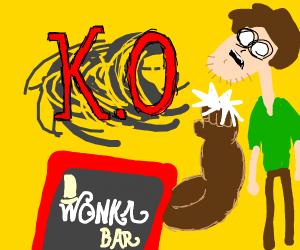 Shaggy vs Willy Wonka chocolate bar