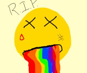 rainbow puke filter dies