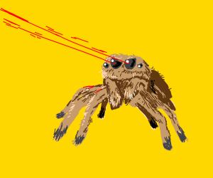 angry lazer spider