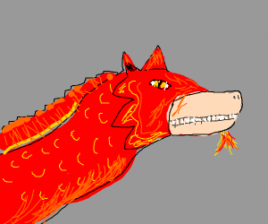 Bright red Chinese dragon