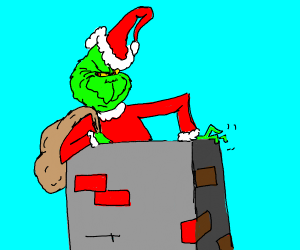The Grinch, doin' his thang