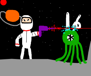 Spaceman with Laser Gun