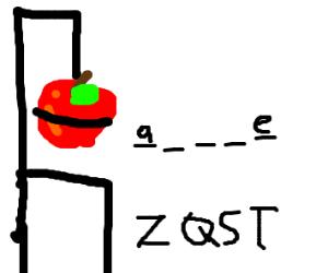 Hangman but with an apple