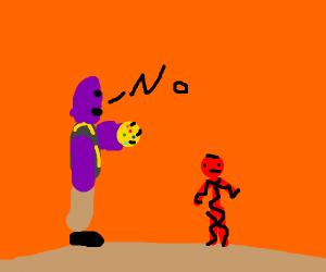 Thanos says no to Spider-Man