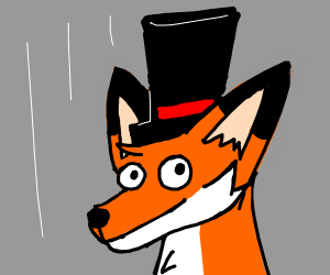 Fox with top hat