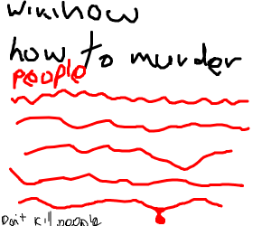 wikihow: how to murder