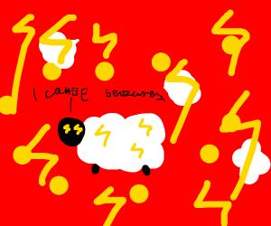 Seizure-causing lightning sheep