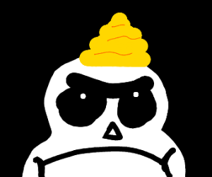 Sans is mad about golden poop on his head