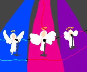 three angels start a band
