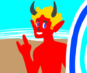 Rad surfer demon