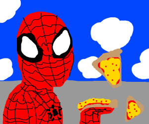 pizza time from spiderman