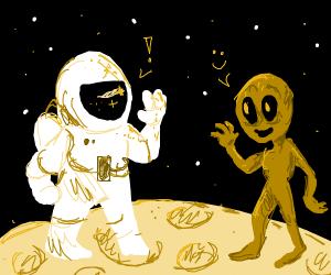 Man has an encounter with an alien