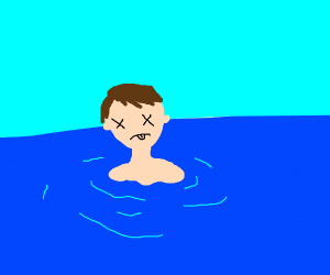 A guy drowning