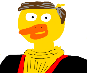 A duck as Dr Smith