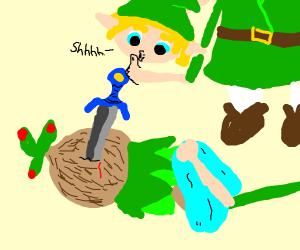 Link puts a tree to sleep