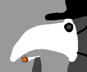 plague doctor getting high