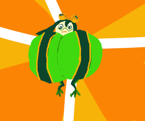 Froppy is, erm, puffing her chest.