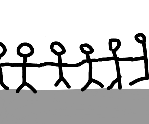 Chain of stick men