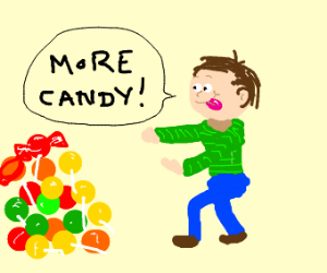 a child wants more candy