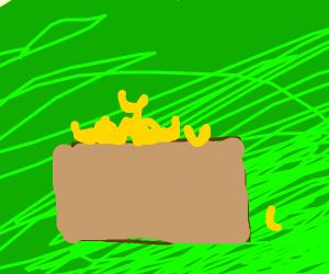 Treasure chest full of Mac and cheese