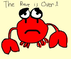 a sad crab