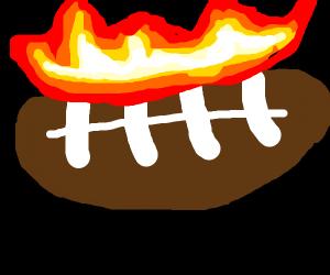 Burning amarikan football, ball