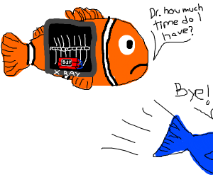a bomb in a fish