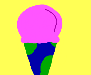The world is your ice cream cone.