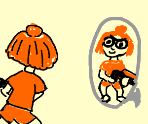 Splatoon girl in mirror