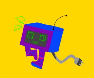 Purple robot