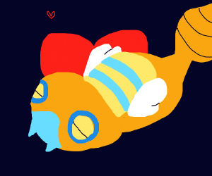 Dunsparce with heart background