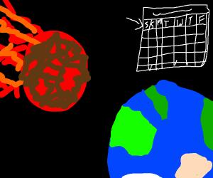 meteor hitting earth on Aug 24 7929